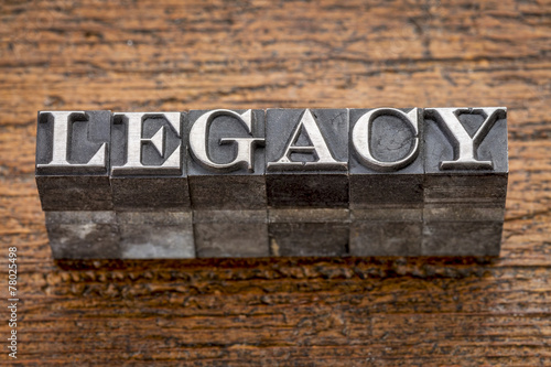Fotografie, Obraz  legacy word in metal type