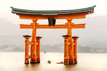 Panel Szklany Japoński Miyajima Torii gate, Japan.