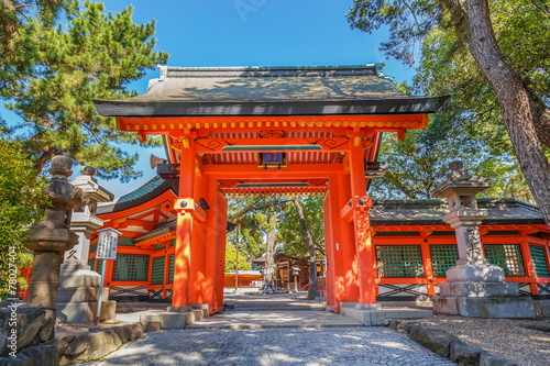 Sumiyoshi Grand Shrine in Osaka Fototapeta