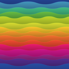 Fototapeta Wieloczęściowe Abstract colorful background with wave, illustration, vector