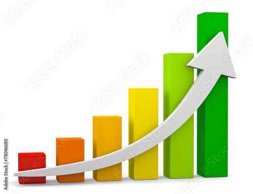 Fotografía  grafico crescita