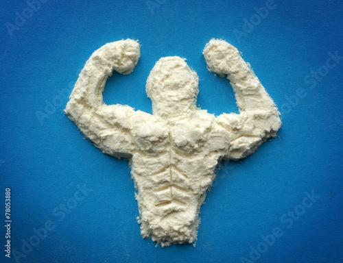 Fotografie, Obraz  Proteinový prášek. Doplňků pro kulturisty