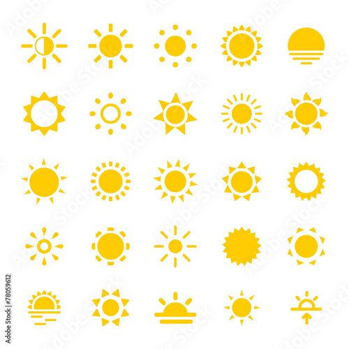 fototapeta na ścianę Sun Ikony