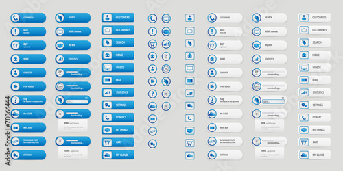 Fotografía  Blue and white big buttons pack