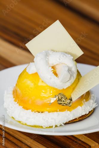 Photo  passion fuit dessert