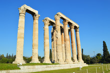 Ruins Of Temple Of Zeus In Athens