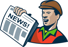 Newsboy Newspaper Delivery Retro