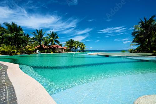 Fototapeta Swimming pool vacation resort on Boracay obraz