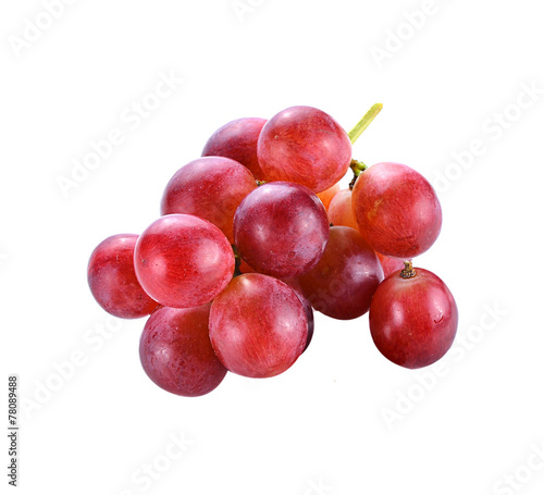 red grape isolated on white Fototapet