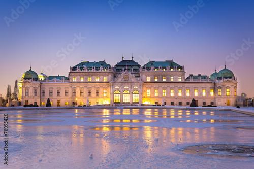 Schloss Belvedere zur Winterzeit, Wien
