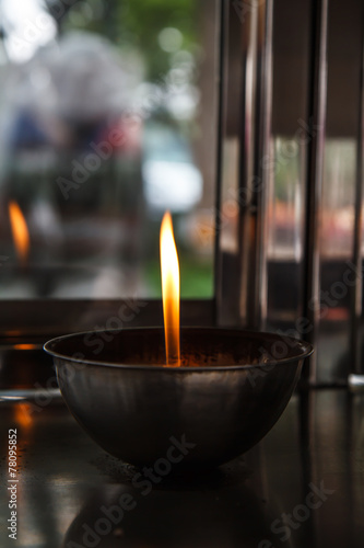 Wall Murals Cemetery Several candles