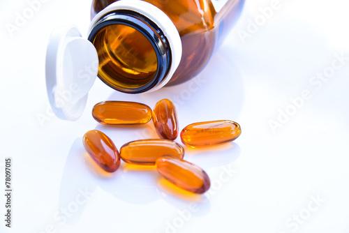 Obraz na plátne Lecithin supplement capsules