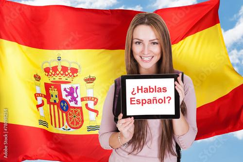 Foto  Woman Asking Do You Speak Spanish