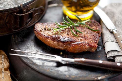 Canvastavla  steak fleisch
