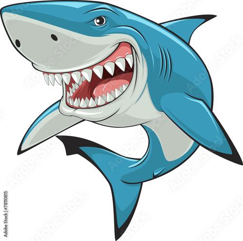 Canvas Print White shark