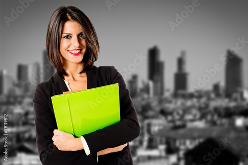 Photo  real estate female agent