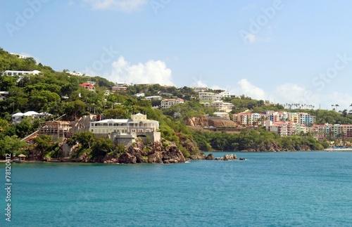 Fotografie, Obraz  Coastal views of St. Thomas, US virgin Islands