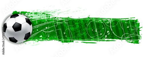 Fototapeta blank soccer field banner obraz