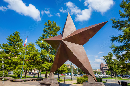 Poster Texas Texas Star in front of the Bob Bullock Texas State History Museu