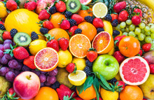 Mixed Fruits.Fruits Background...