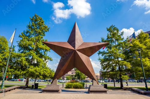 Aluminium Prints Texas Texas Star in front of the Bob Bullock Texas State History Museu