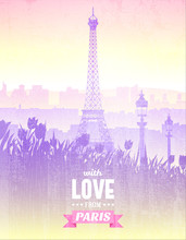 Vector Vintage Poster With Vie...