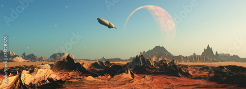 Photo  3D fictional space scene