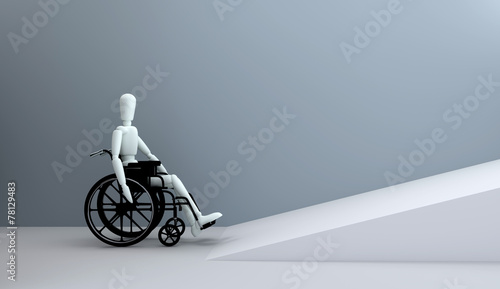 Obraz na plátně wheelchair in front of ramp