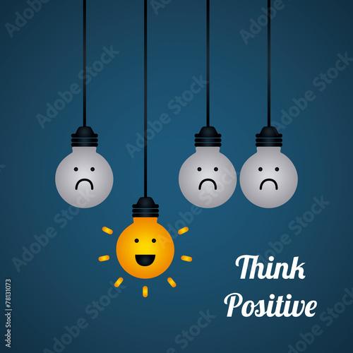 Fotografie, Obraz  think positive
