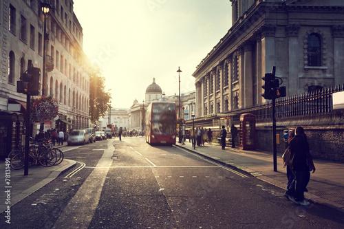 Tuinposter London sunset near Trafalgar square, London, UK