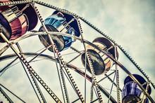 Amusement Park Ferris Wheel Ride - Retro Filtered