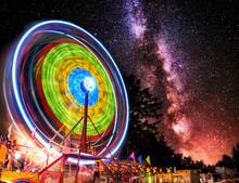 Ferris Wheel Light Motion Unde...