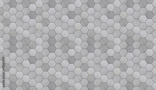 Papiers peints Artificiel Futuristic Hexagonal Aluminum Tiled Seamless Texture