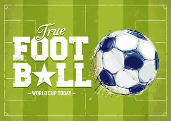 Fototapeta Piłka nożna Grunge Football Poster