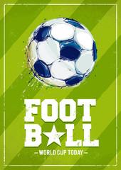 FototapetaGrunge Football Poster