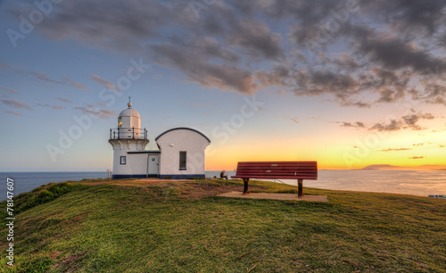 fototapeta na lodówkę Sklejaniu Point Lighthouse Port Macquarie