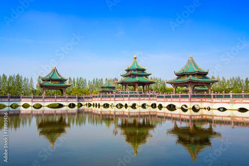 Ingelijste posters Beijing Chinese pavilion