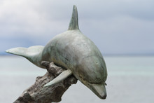 Dolphin Copper Statue
