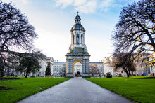 Bell Tower In Trinity College,...