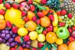 Leinwandbild Motiv Fresh fruits mixed.Fruits background.Dieting, healthy eating.