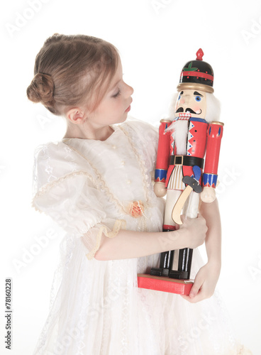 Fotografía  A Beauty Ballerina who holding a nutcracker