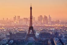 Eiffel Tower In Evening Light,...