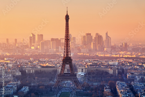 Eiffel Tower in evening light, Paris, France