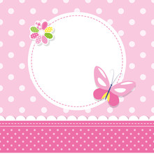 Pink Butterfly Baby Girl Greet...