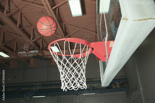 basketball basket with all going through net buy this stock photo