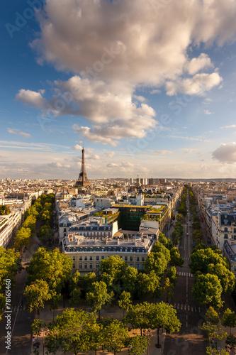 Keuken foto achterwand Parijs Aerial view of Paris and the Eiffel Tower