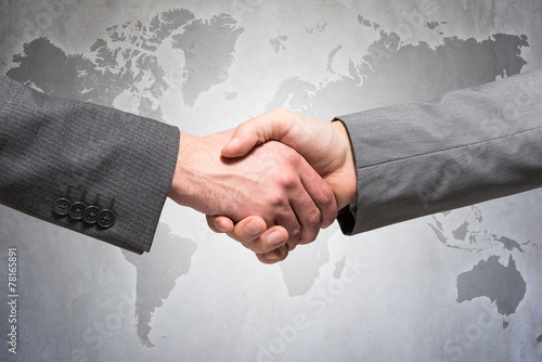 Fotografie, Obraz  International handshake