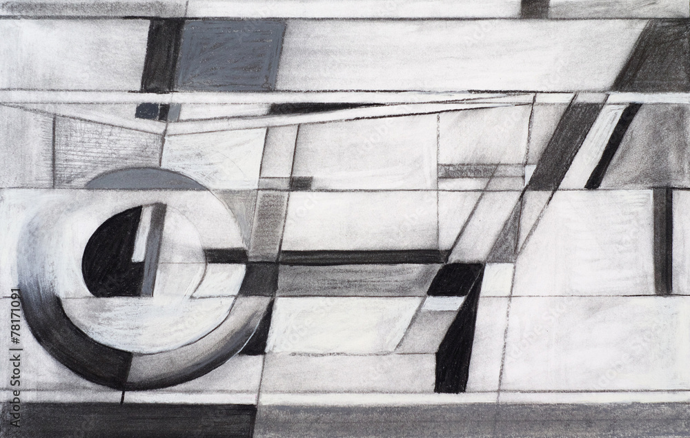 Fototapety, obrazy: an abstract charcoal drawing