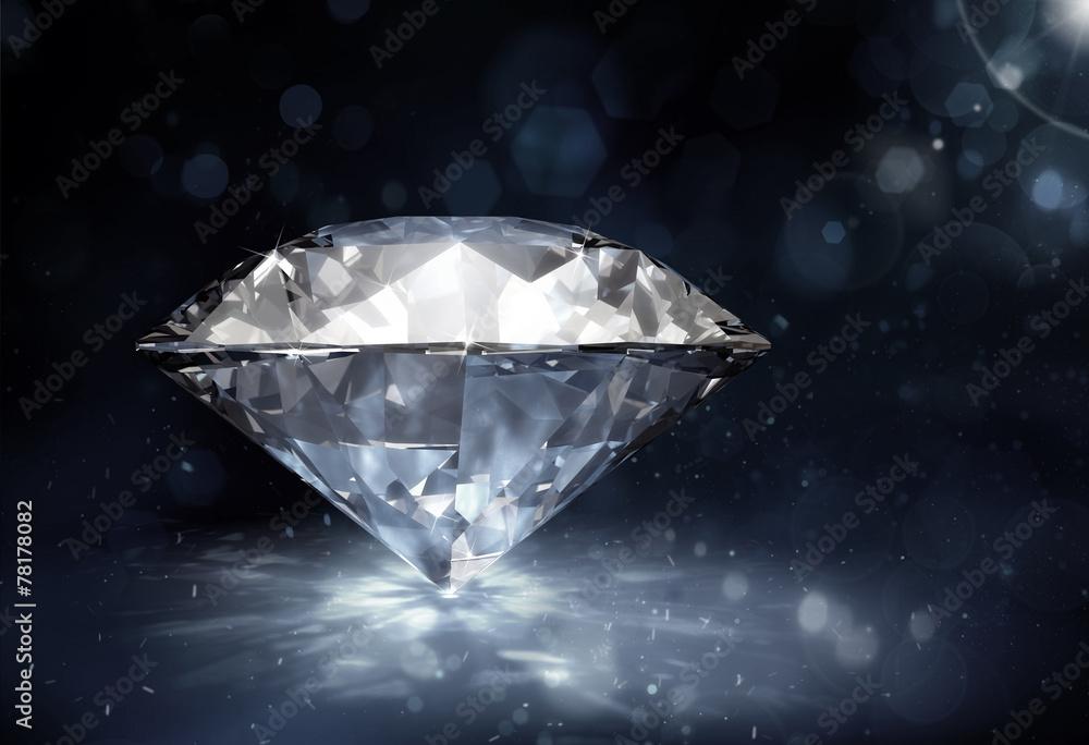 Fototapeta diamond on dark background