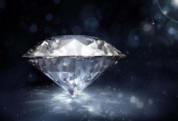 diament na ciemnym tle